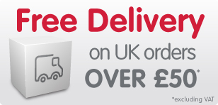 Free UK Standard Delivery for orders over £50 excluding VAT