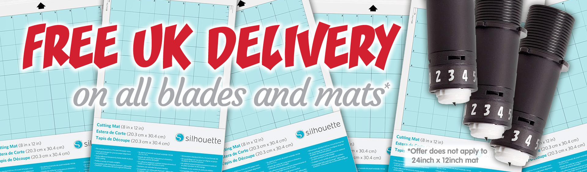 Free Delivery|Silhouette Blades & Mats