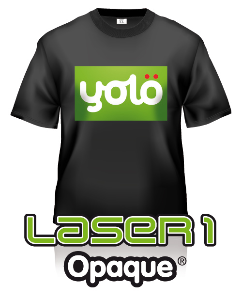 yolö creative | love transfer - Laser 1 Opaque® Dark T-Shirt Transfer Paper - Heat Transfer Paper for Laser Printers
