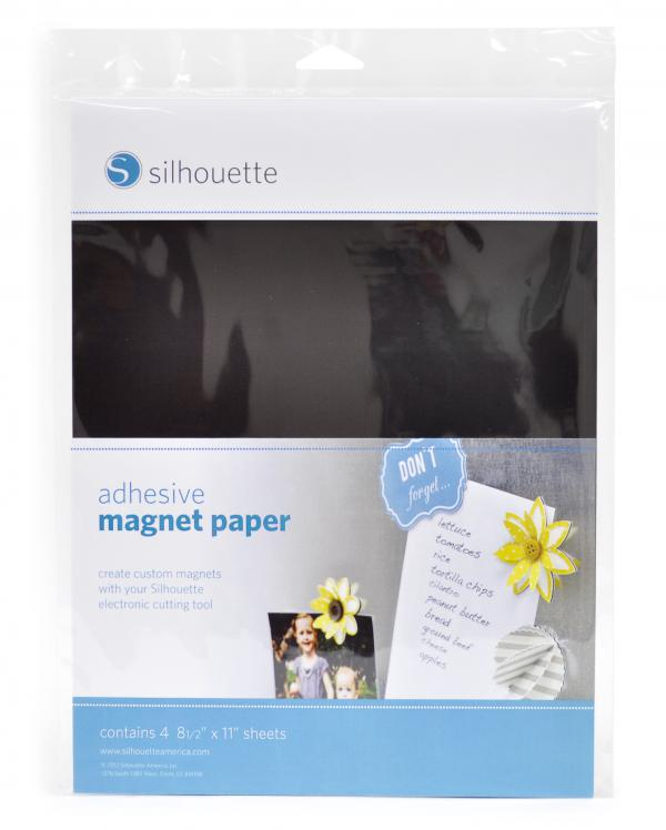 best adhesive magnet paper - Silhouette | yolo creative