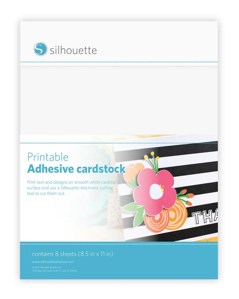 photograph about Printable Card Stock referred to as Silhouette Printable Self-Adhesive Cardstock