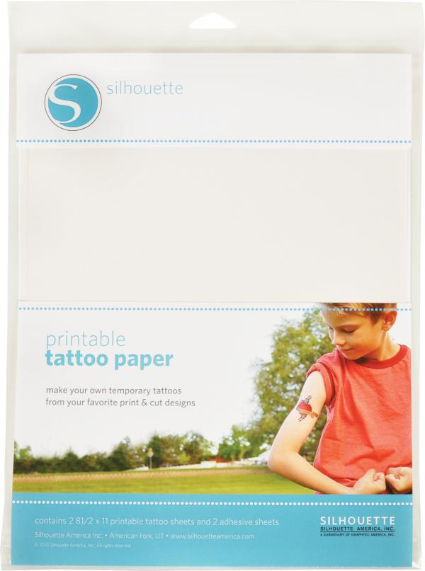 best printable tattoo paper - Silhouette | yolo creative